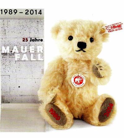 シュタイフ ベルリンの壁崩壊25周年記念テディベア