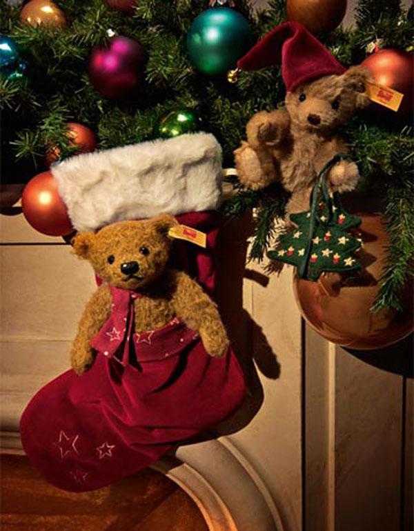 シュタイフ ニコ テディベアとクリスマスツリー