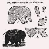 小さな象の型紙